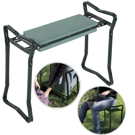 Costway Folding Sturdy Garden Kneeler Gardener Kneeling Pad & Cushion Seat Knee Pad Seat