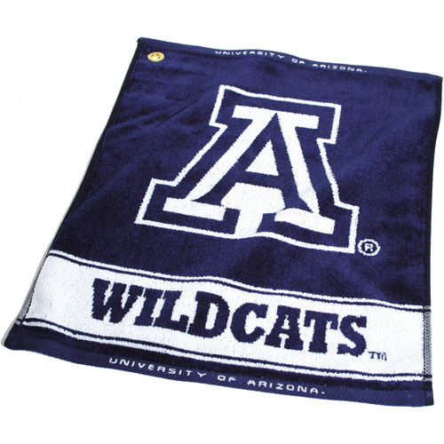 Team Golf NCAA Arizona Jacquard Woven Golf Towel