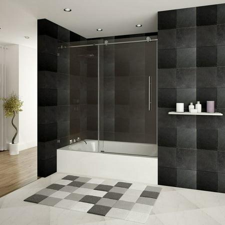LessCare Ultra-C 60\'\' x 62\'\' Single Sliding Bath Tub Door - Walmart.com