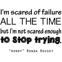 "Rowdy Vinyl Wall Decal - UFC Ronda Rousey Quote / Bedroom Decor / Sticker - 20""x16"""
