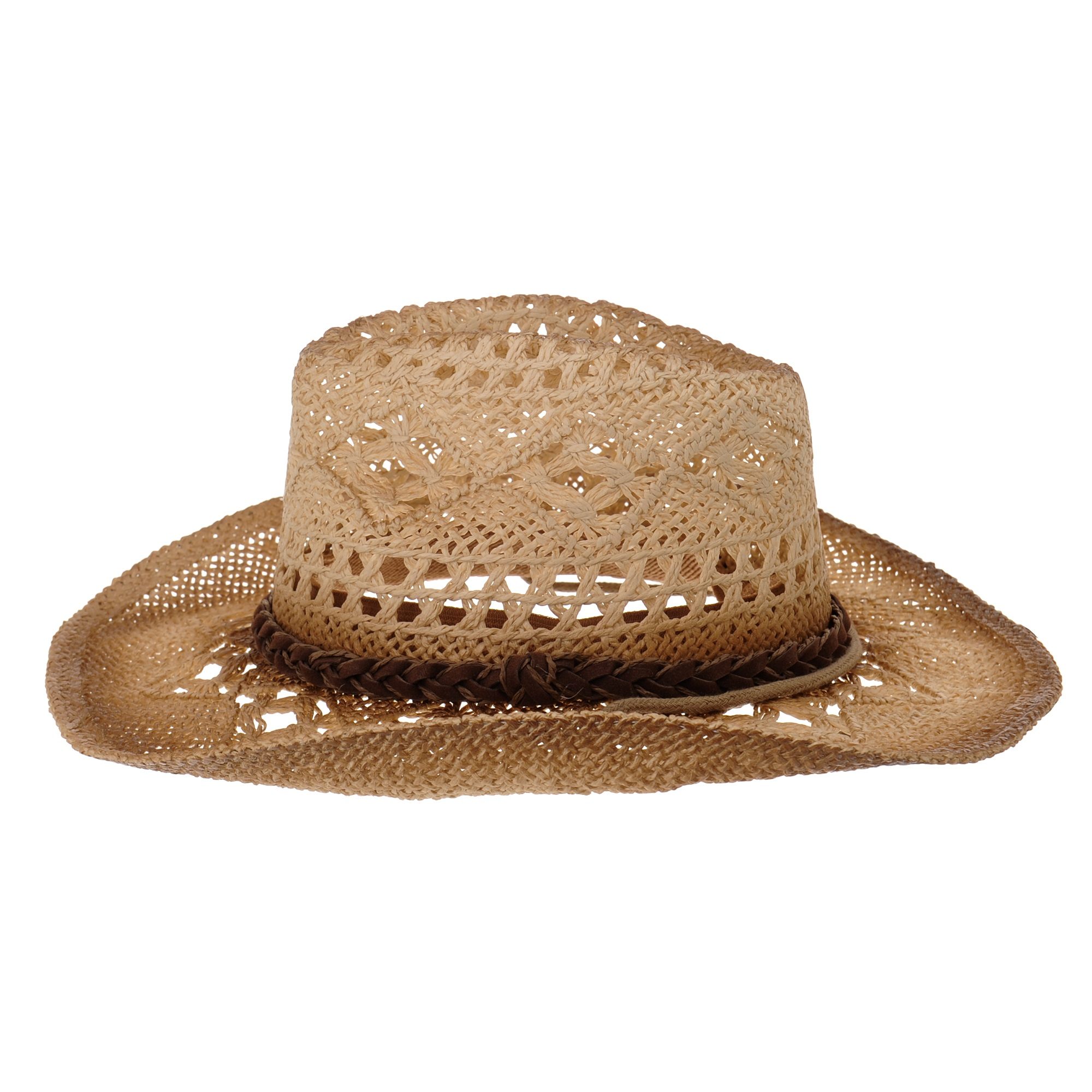 23ffbf3cab2 WITHMOONS Western Cowboy Hat Cool Paper Straw Banded Chin Strap GN8765  (Black) - Walmart.com