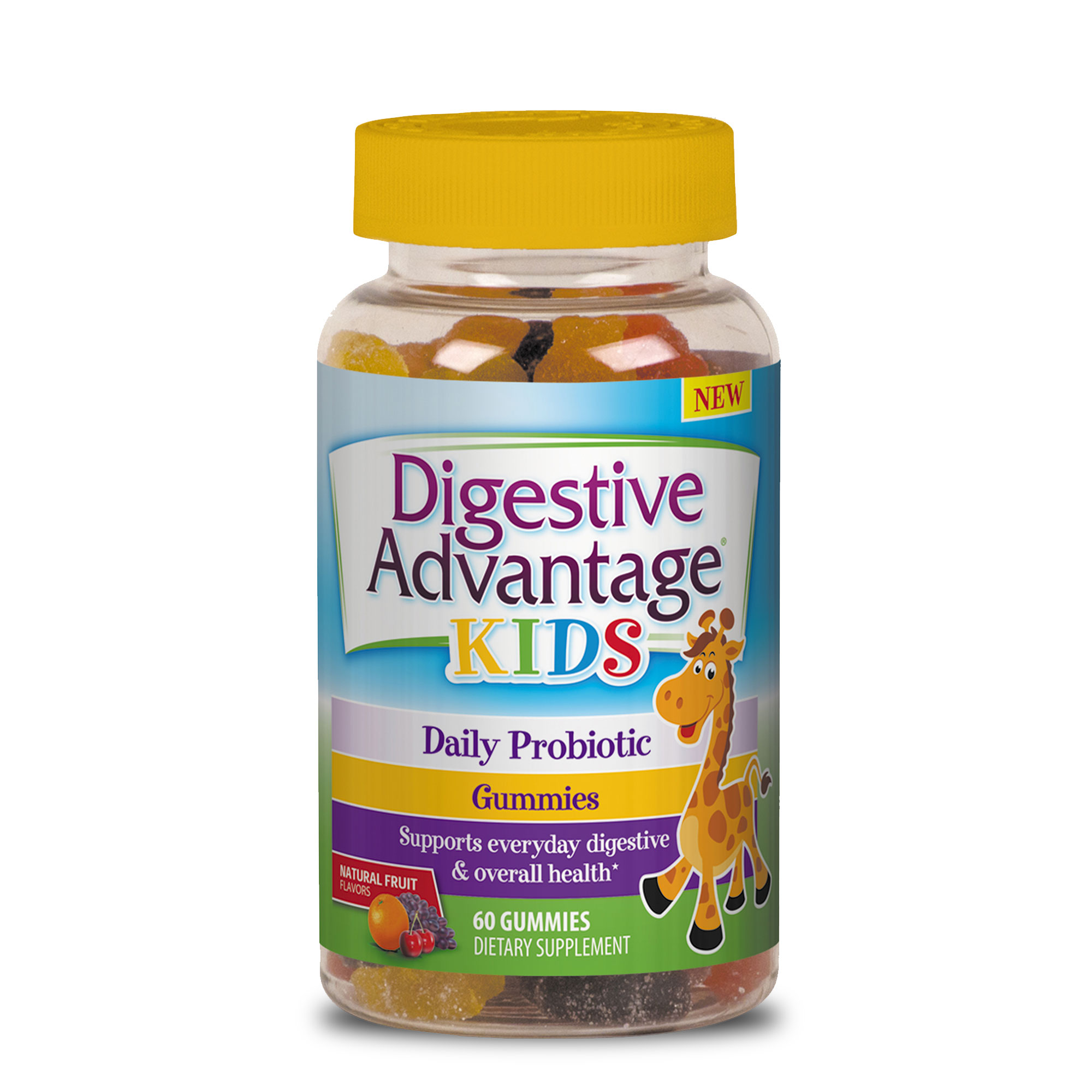 Digestive Advantage Kids Daily Probiotic Gummies, 60 count