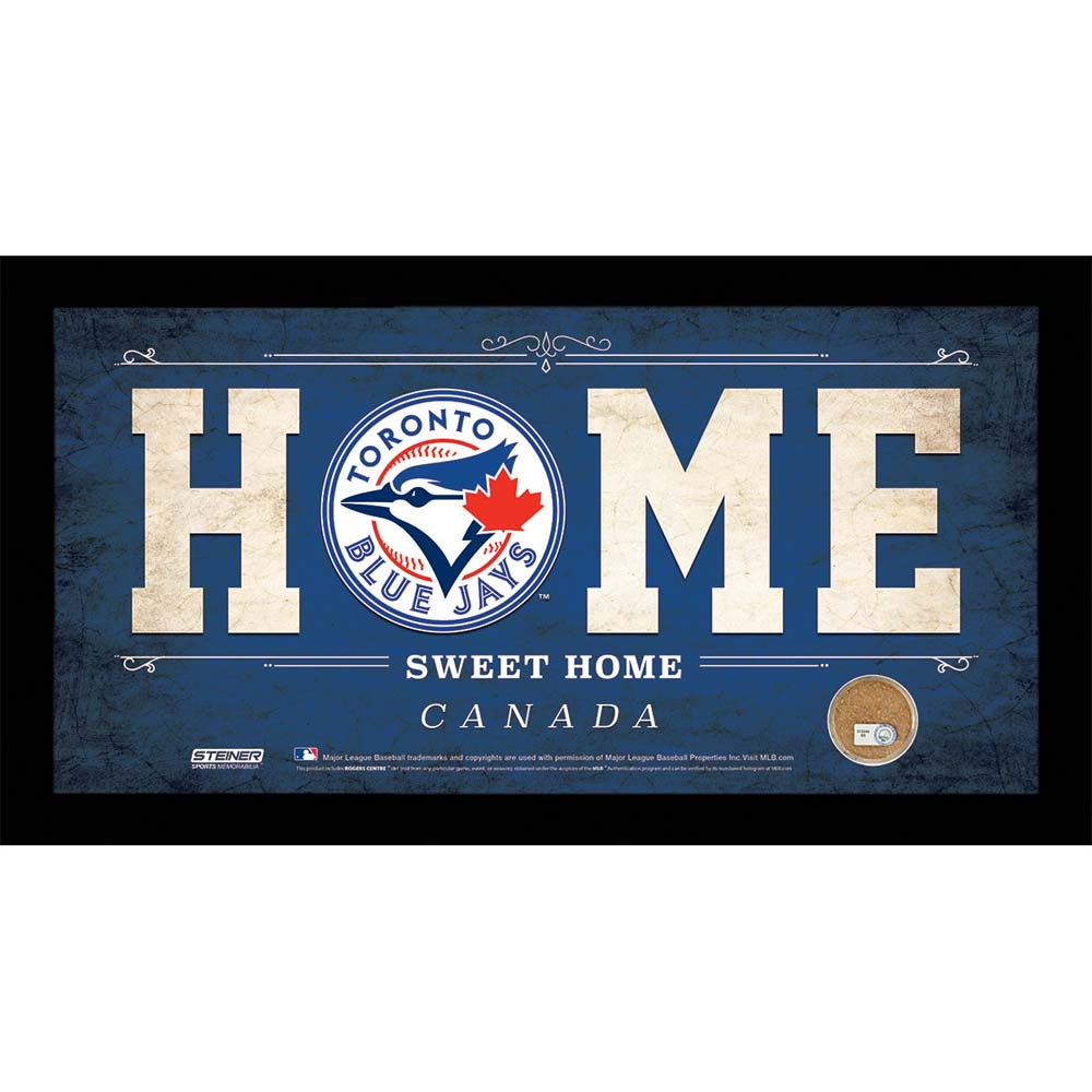 Toronto Blue Jays 10x20 Home Sweet Home Sign with Game-Used Dirt from Rogers Cen