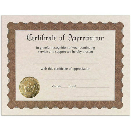 Great Papers! Appreciation Stock Certificate, 6 count