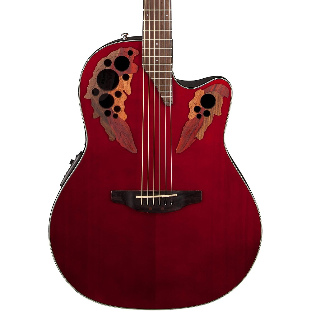Ovation Celebrity Elite, Mid-Depth Cutaway, (Ruby Red)