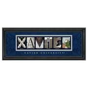 Framed Letter Wall Art - Xavier Ohio University - 20W x 8H in.