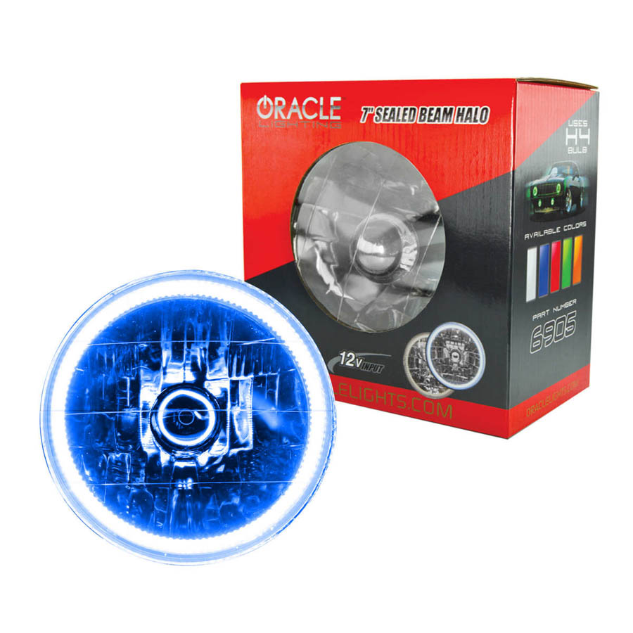 Oracle Lighting Tech Blue Halo LED Ring Sealed Beam Headl...
