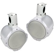 Q Power QPTS65W Loaded Marine-Tower Speakers, White