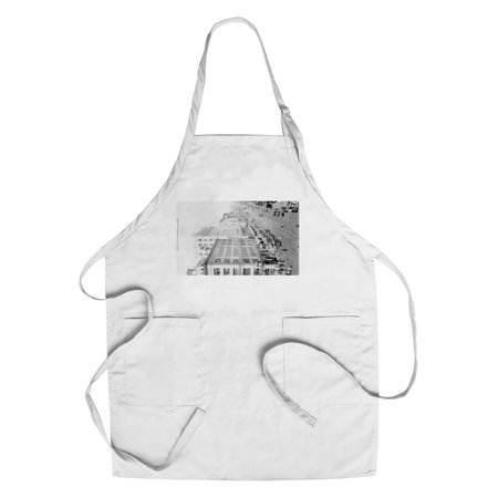 Seattle  Washington   Aerial View Of 2Nd And Pike Intersection  Cotton Polyester Chefs Apron