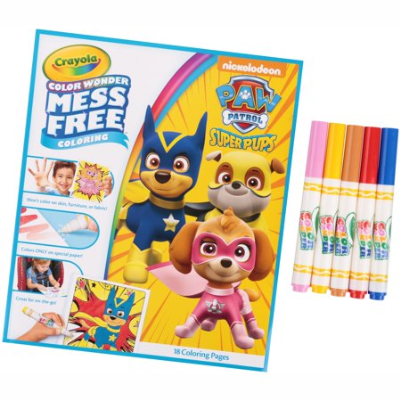 Crayola Color Wonder Coloring Book and Refill Paper Bundle, Paw ...