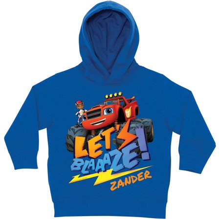 Personalized Blaze And The Monster Machines Royal Blue Toddler Hoodie