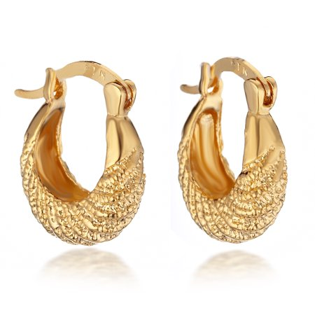 Gemini Women's 18K Yellow Gold Filled Filled Hoop Huggie Earrings for Women Valentine's Day Gifts Gift Idea