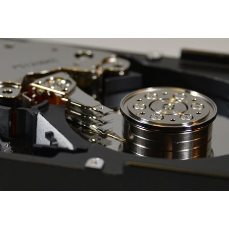 Canvas Print Hard Drive Macro Computer Inner Workings Hdd Disk Stretched Canvas 10 x