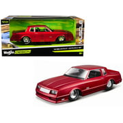 """1986 Chevrolet Monte Carlo SS Candy Red """"Classic Muscle"""" 1/24 Diecast Model Car by Maisto"""