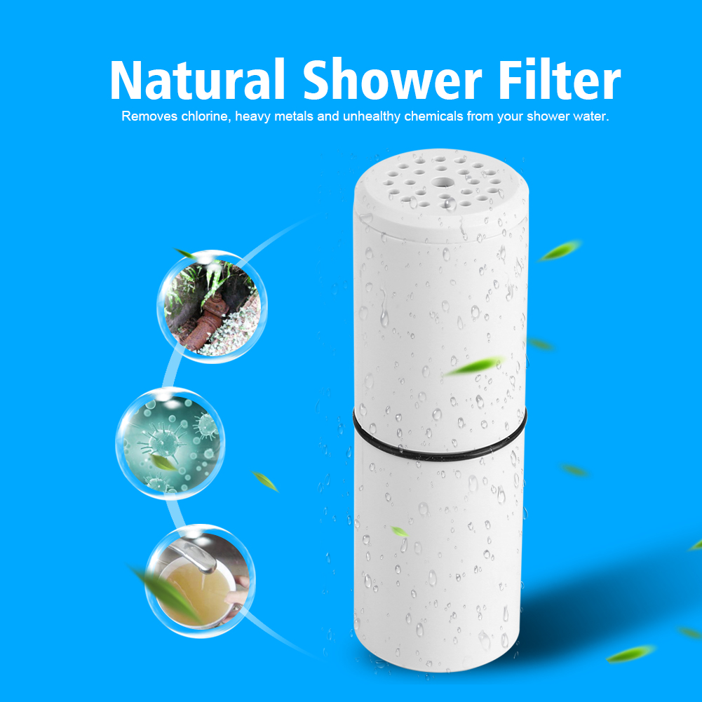 Dilwe Wheelton Replacement Cartridge for H2O Natural Composite Shower Filter Element Output Chlorine, Replacement Cartridge,Composite Shower Filter Element