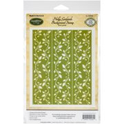 """JustRite Papercraft Cling Background Stamp 4.5""""X5.75""""-Holly Garlands"""