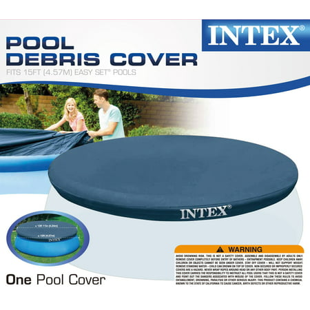 Intex easy set swimming pool cover for 15 foot easy set Intex swim center family pool cover