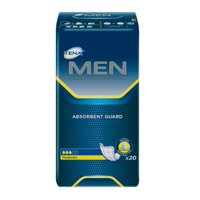 TENA Men Moderate Absorbency Bladder Control Pad White, 20 Ct