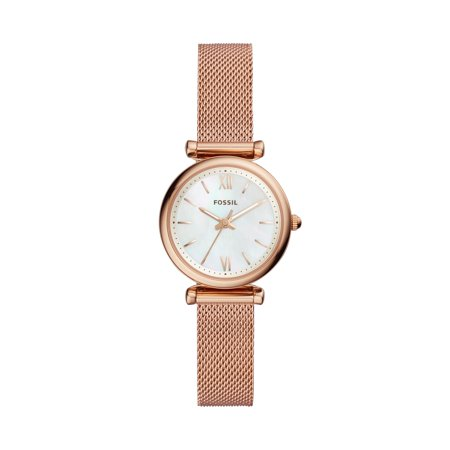 Fossil Women's Carlie Mini Three-Hand Rose Gold-Tone Stainless Steel Watch, ES4433 (Fossil Watch Women Heart)