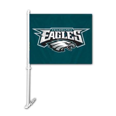 Fremont Die Inc Philadelphia Eagles Car Flag With Wall Brackett Car Flag