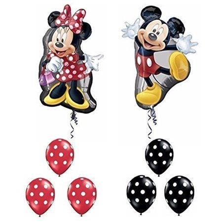 mickey and minnie mouse full body supershape balloon set by party supplies (Mickey Mouse Shaped Balloons)