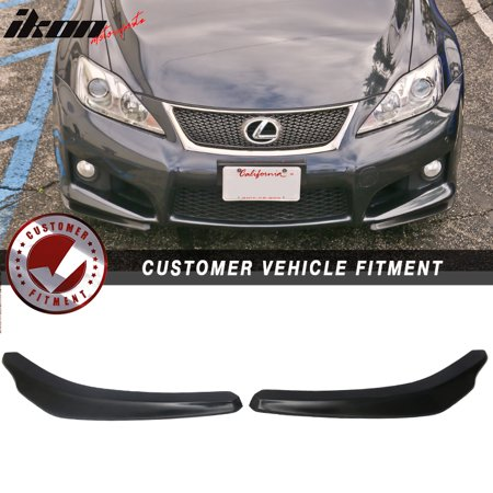 Fits 06-14 Lexus IS250 IS350 ISF Ikon Style Front Bumper Lip 2 Piece -