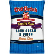 Old Dutch Family Pack Sour Cream & Onion Flavored Potato Chips, 9.5 Oz.