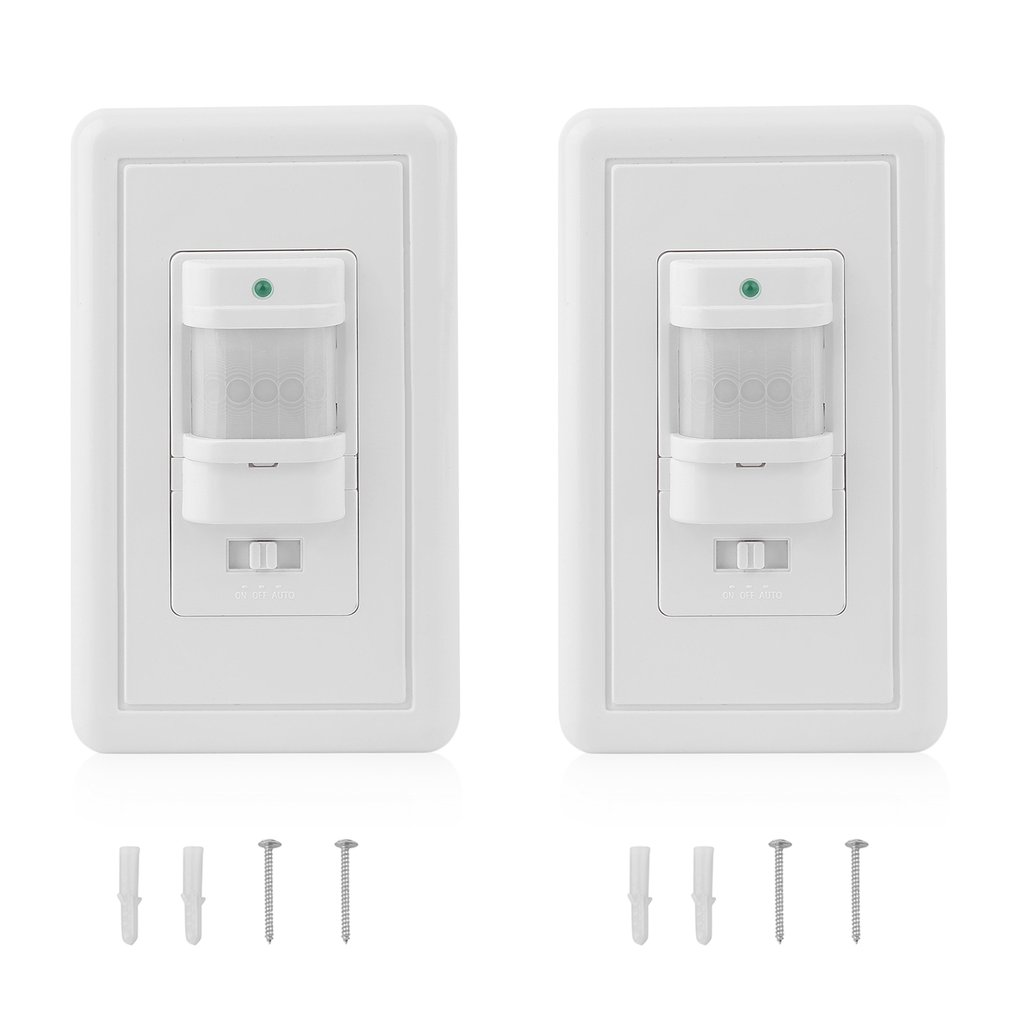 Motion Sensor Light Switch 2pcs Intelligent Automatic Infrared Pir