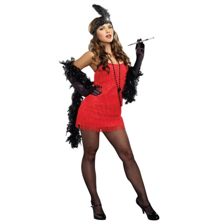 Dreamgirl Womens  Red Flapper Starter Dress Costume - Red Flapper