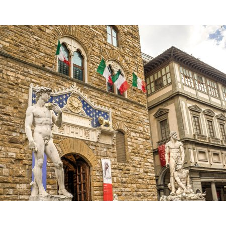 LAMINATED POSTER Square Architecture Plaza Florence Italy City Poster Print 24 x 36](Party City Florence)
