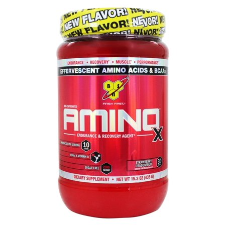 Bsn   Amino X Bcaa Powder Endurance And Recovery Agent Strawberry Dragonfruit   15 3 Oz