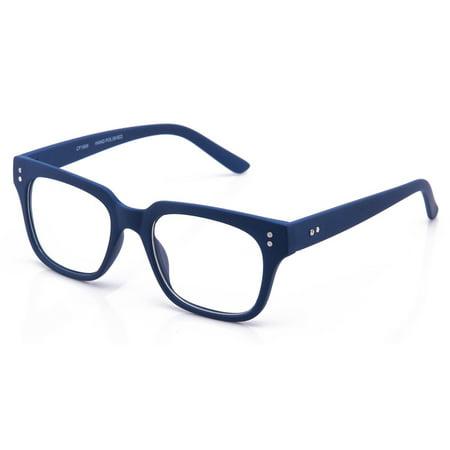 d452d7a7fb Newbee - Newbee Fashion - Clear Frames Nerd Geek Squared Simple Fashion  Clear Glasses - Walmart.com