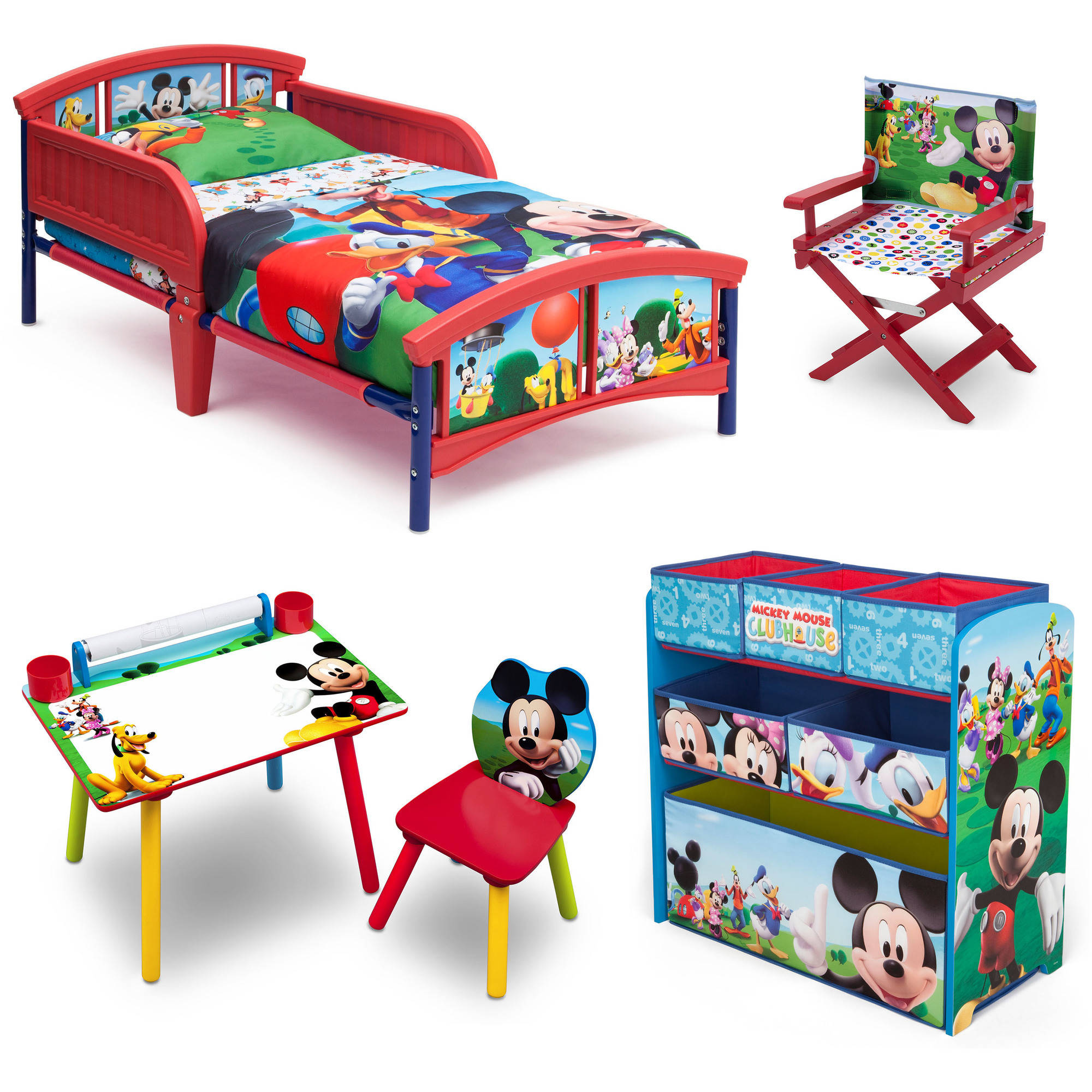 Disney Mickey Mouse Room-in-a-Box with Bonus Chair - Walmart.com