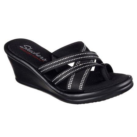 Skechers 38589BLK Women's RUMBLERS - GO2GAL Sandal Shoes](50s Shoes)