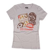 Star Wars Cookie Wookie Juniors Grey T-Shirt | XL