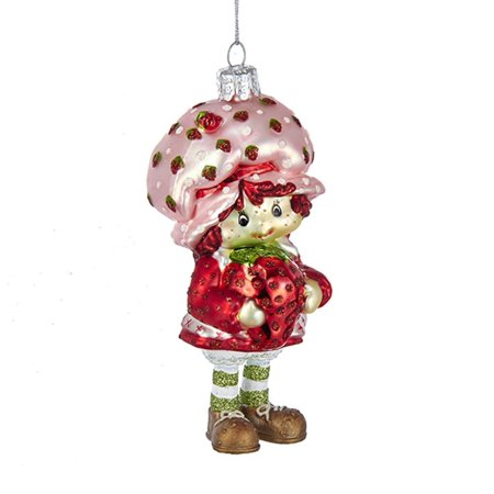 """Pack of 6 Pink and Red Strawberry Shortcake Ornaments Holiday Decorations 5"""" for $<!---->"""