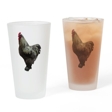 CafePress - Rooster - Pint Glass, Drinking Glass, 16 oz. CafePress Rooster Stained Glass