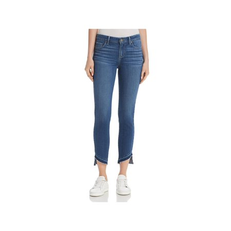 Paige Womens Verdugo Skinny Raw Hem Cropped Jeans