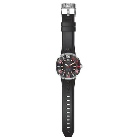 Technomarine TM-515010 Men's Reef Black Dial Black Silicone Strap Dive Watch