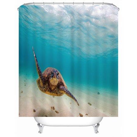 Swimming turtle Rollerball Shower Bath Mat Bathroom Bath Mat - image 2 de 5