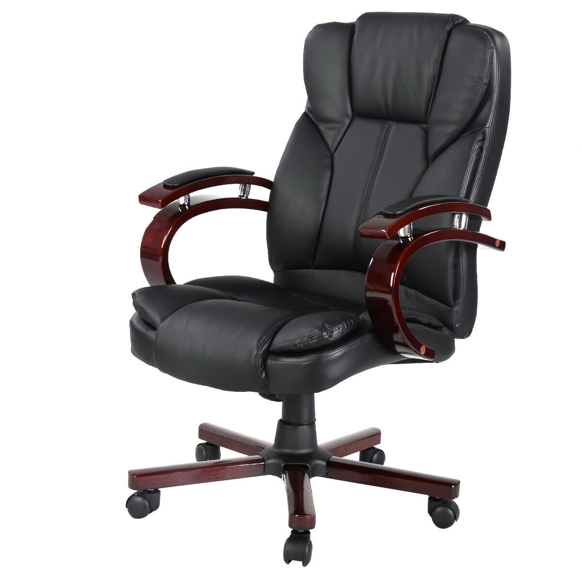 Costway Ergonomic Desk Task Office Chair High Back Executive Computer New  Style Black