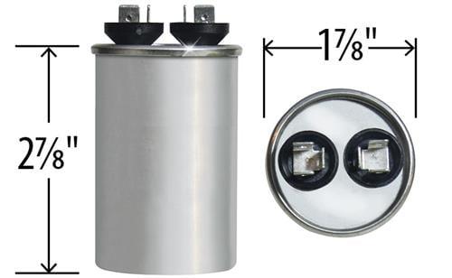 97F9204 Genteq /• 7.5 uF MFD x 370 VAC GE Industrial Replacement Capacitor Round # C307R