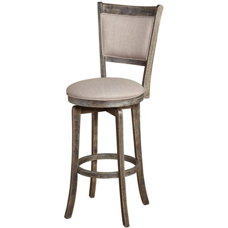 Grapes 30' Swivel Stool - French Country 30-inch Grey Swivel Bar stool