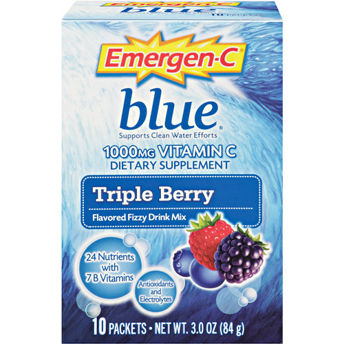 Alacer Emergen-C Berry Blue 1000 Mg Fizzy Drink Mix Packets - 10 Ea