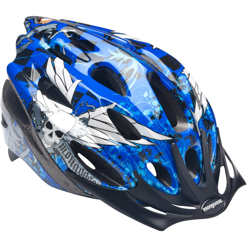 Mongoose Skull Micro Boys' Bicycle Helmet, Blue, Youth