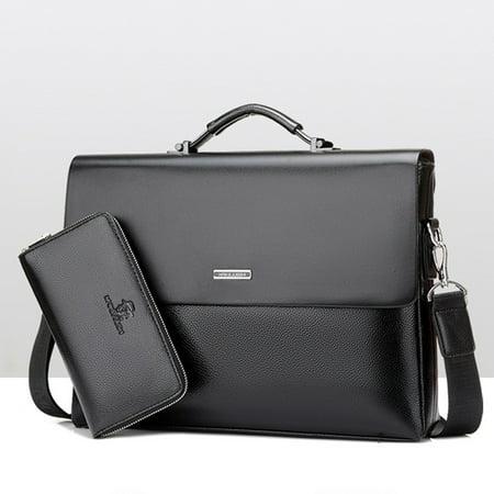 d6df3d411e11 Meigar Men Business Document Laptop Briefcase Shoulder Bag Handbag Zipper  Waterproof