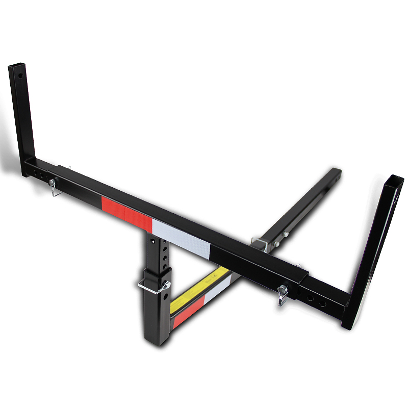 """Spec-D Tuning Fit Pickup Trunk Suv 2"""" Hitch Mount Track Bed Extender Black Powder Coated"""