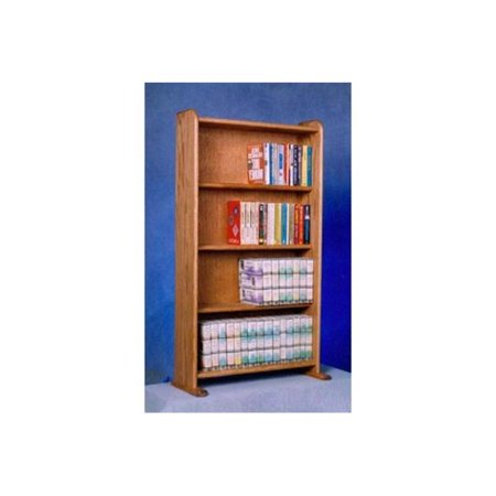 Wood Shed 407 Solid Oak Cabinet for DVDs, VHS tapes, books and more