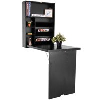 Topbuy Wall Mounted Computer Desk Foldable Space Saving Multifunctional Table