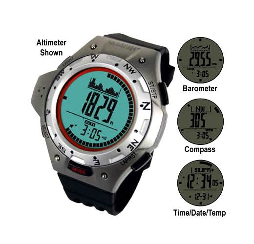 La Crosse Technology XG-55 Digital Altimeter Watch with Compass